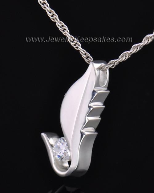 Sterling Silver Flutter of Memories Cremation Necklace