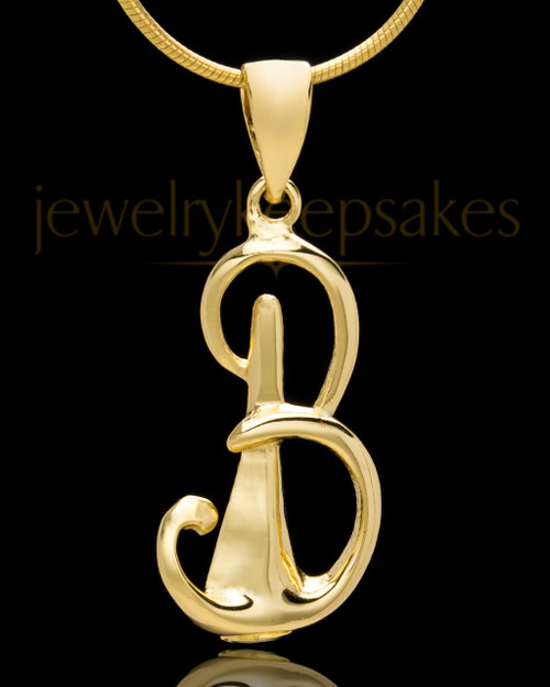 "Gold Plated ""B"" Keepsake Jewelry"