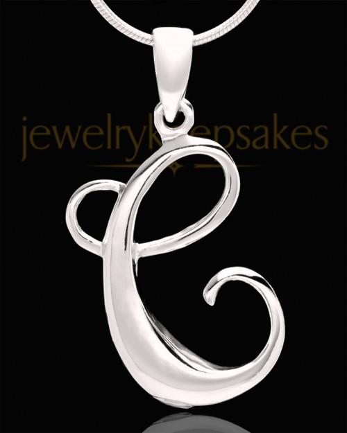 """Sterling Silver """"C"""" Keepsake Jewelry"""