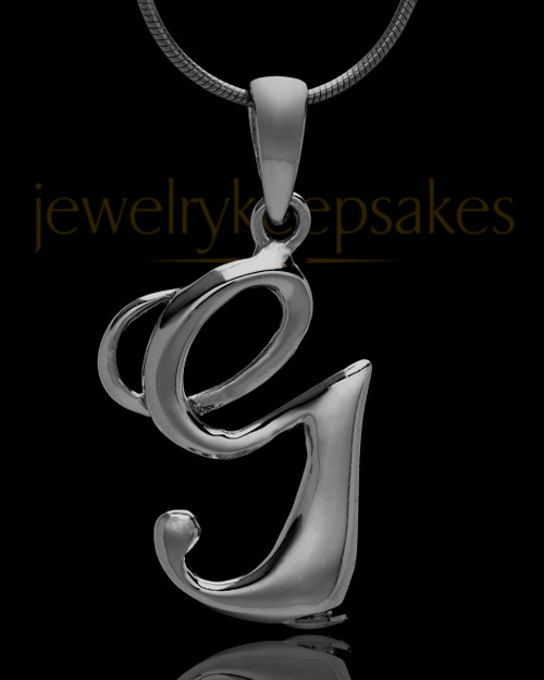 "Black Plated ""G"" Keepsake Jewelry"