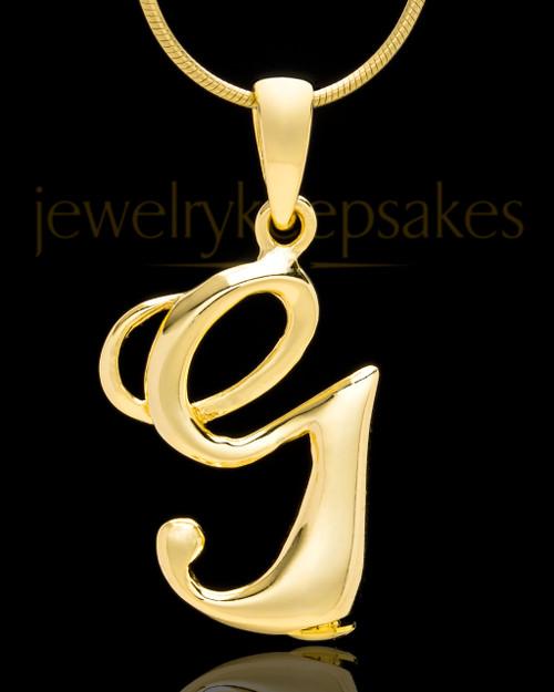 "Gold Plated ""G"" Keepsake Jewelry"