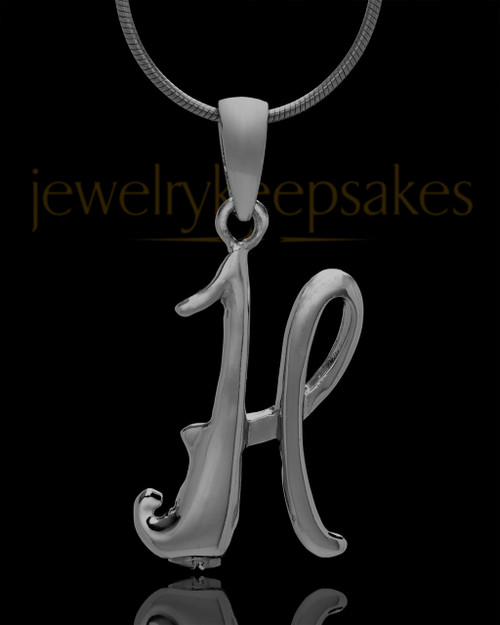 "Black Plated ""H"" Keepsake Jewelry"