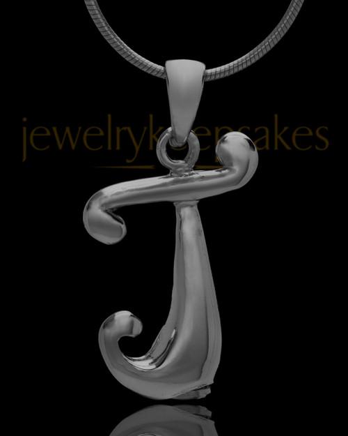 "Black Plated ""J"" Keepsake Jewelry"