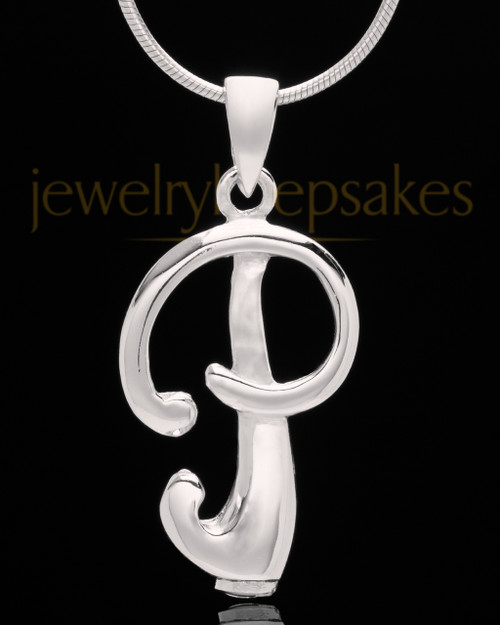 """Sterling Silver """"P"""" Keepsake Jewelry"""