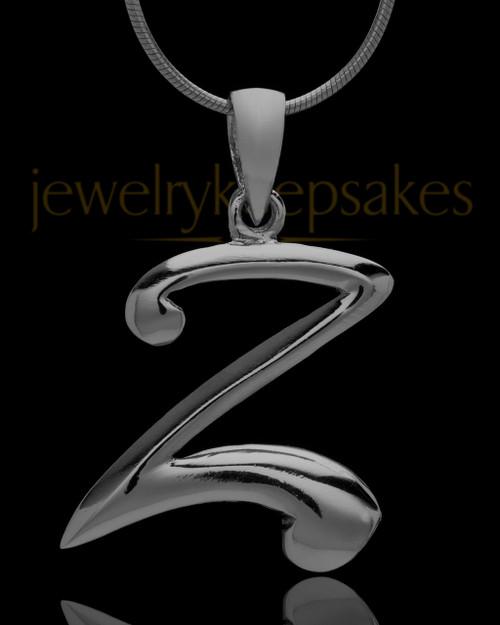 """Black Plated """"Z"""" Keepsake Jewelry"""