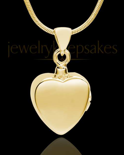 Gold Plated Gentle Heart Urn Pendant