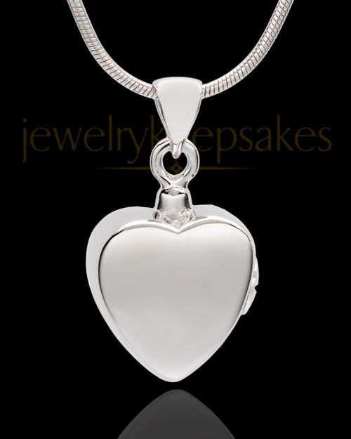 Sterling Silver Gentle Heart Urn Pendant
