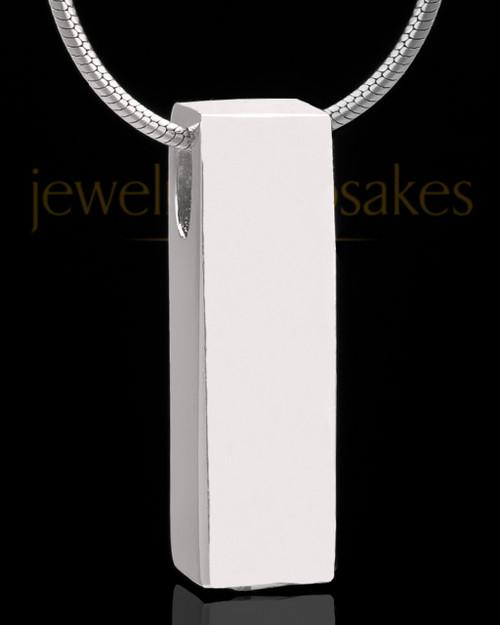 Sterling Silver Classy Cylinder Keepsake Jewelry