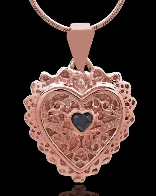 Rose Gold Plated Garland Heart Keepsake Jewelry