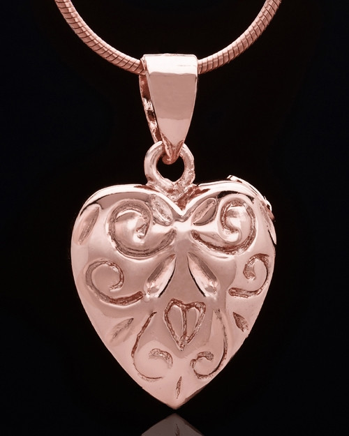 Rose Gold Plated Crowned Heart Keepsake Jewelry