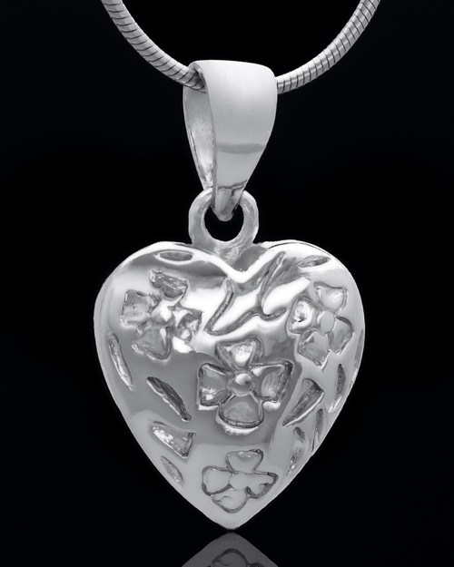 Sterling Silver Spooled Heart Keepsake Jewelry