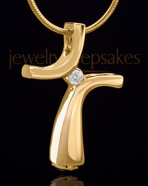 Gold Plated Eclectic Cross Keepsake Jewelry