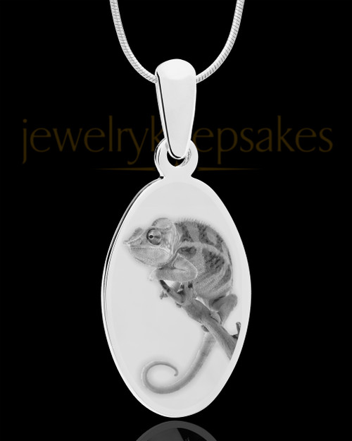 Photo Engraved Oval Pet Pendant Stainless Steel