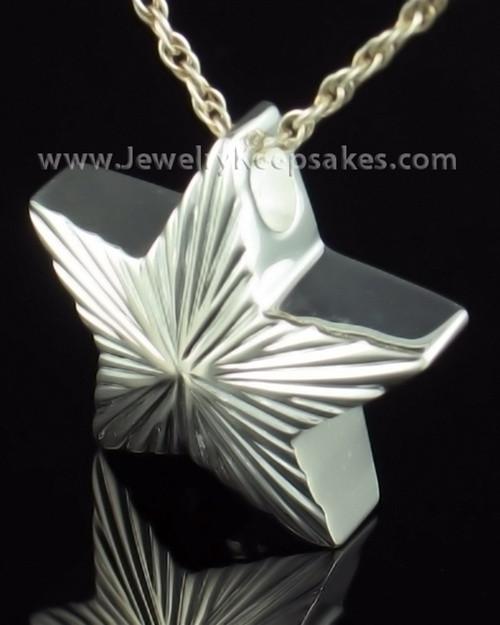 Cremation Charm Sterling Silver Starbright Keepsake