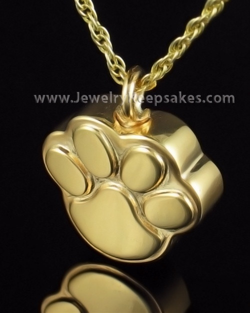 Funeral Jewelry Gold Plated Best Buddy Keepsake