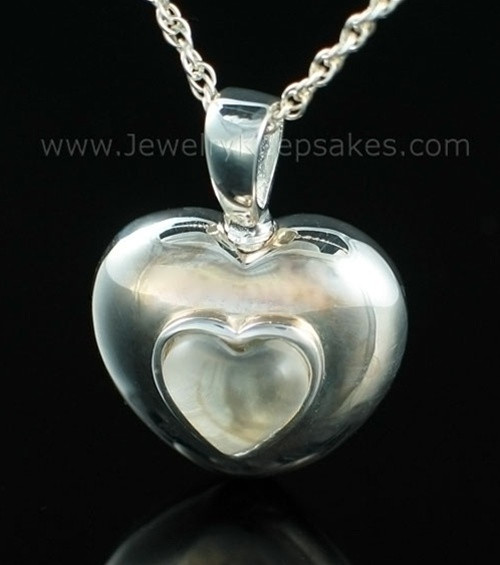 Keepsake Pendant Sterling Silver April Heart Keepsake