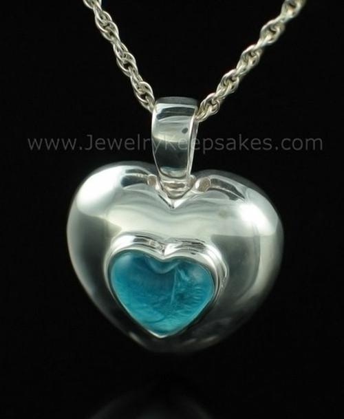 Keepsake Pendant Sterling Silver December Heart