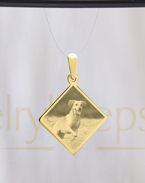 Diamond Pet Gold Picture Reflection Keepsake