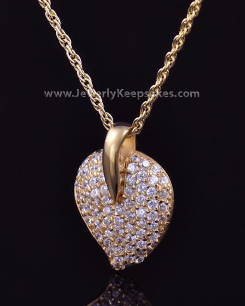 Memorial Locket Gold Plated Blaze Heart