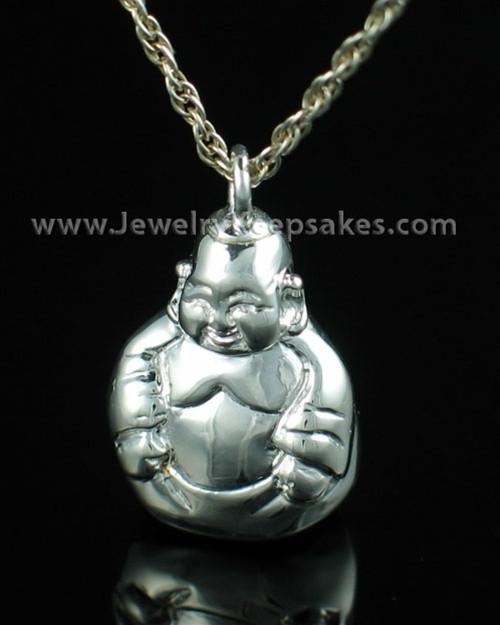 Memorial Necklace Sterling Silver Budda Keepsake