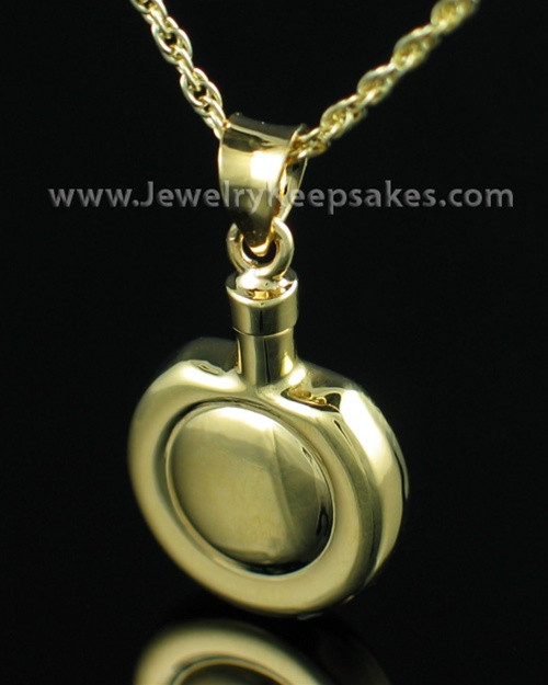 Remembrance Jewelry Gold Vermeil Double Round Keepsake