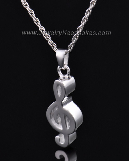 Finely crafted sterling silver music note keepsake pendants jewelry urn sterling silver music note keepsake aloadofball Choice Image