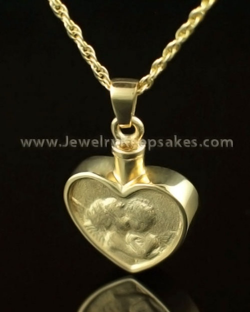 Memorial Pendant Solid 14K Gold True Love Keepsake