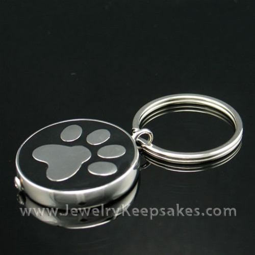 Pet Memorial Jewelry Stainless Nightly Walk Keychain Keepsake