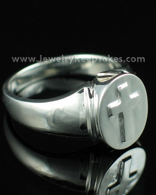 Remembrance Jewelry Sterling Silver Mens Divinity Cremation Ring