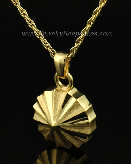 Memorial Urn Jewelry 14K Gold Pinwheel