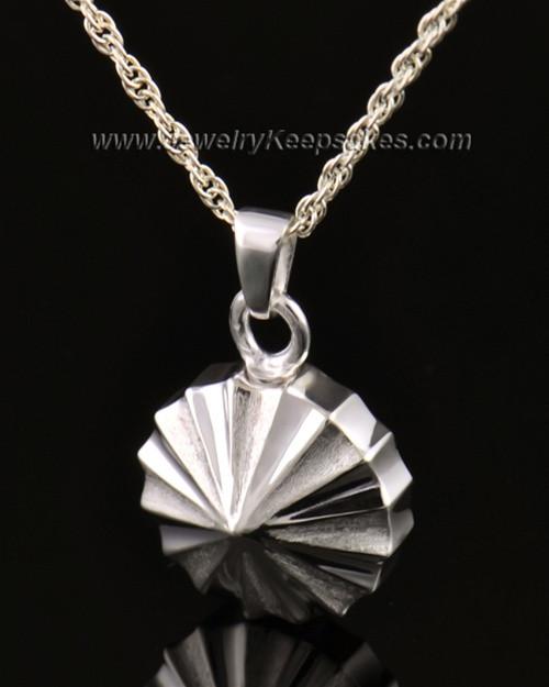 Memorial Urn Jewelry 14K White Gold Pinwheel