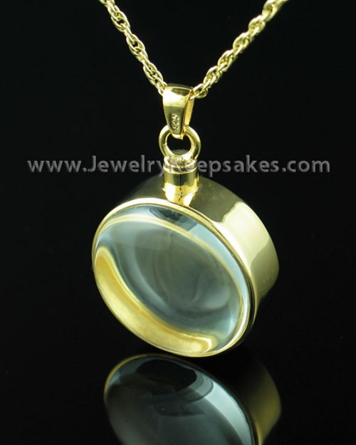 Keepsake Jewelry Gold Plated Glass Solitude Locket