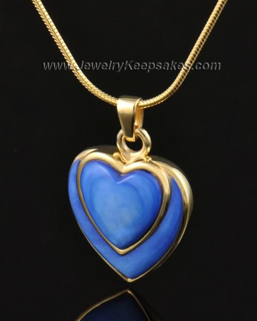 Ash Pendant 14k Gold Azure Heart