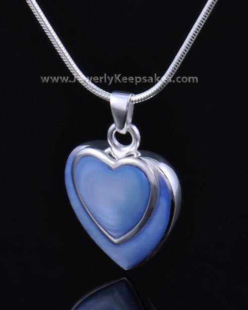 Ash Pendant Sterling Silver Azure Heart-Engravable