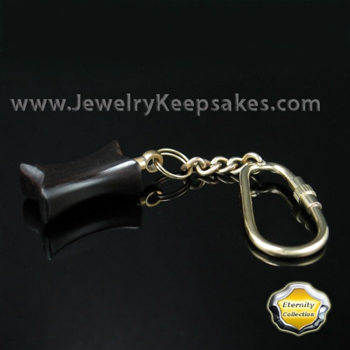 Jewelry Urn Wood Ebony Infinity Keychain - Eternity Collection