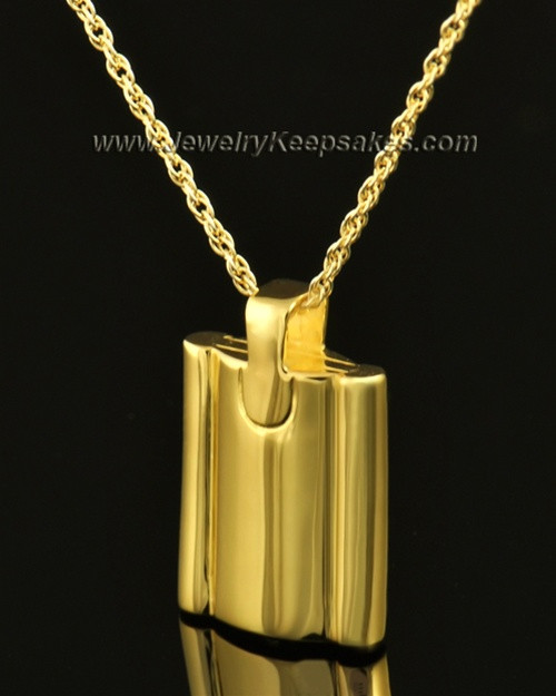 Cremains Pendant 14k Gold Elegance Flask Keepsake