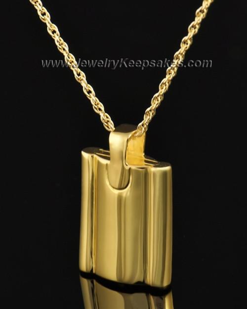 Cremains Pendant Gold Plated Elegance Flask Keepsake