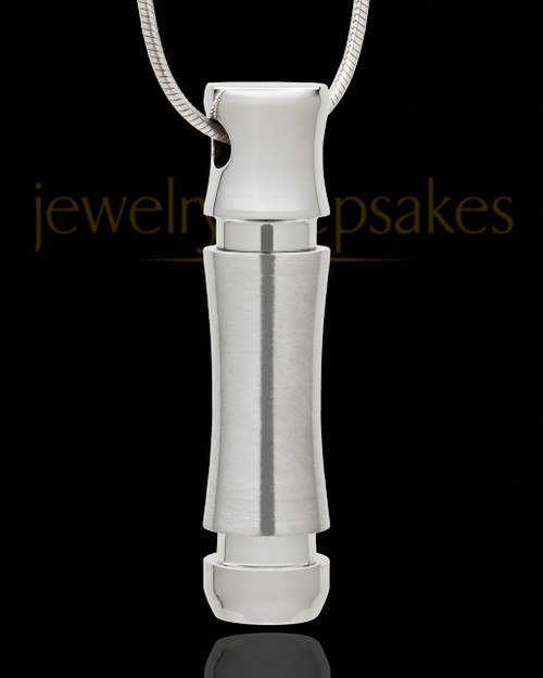 Remembrance Jewelry Stainless Steel Mighty Cylinder