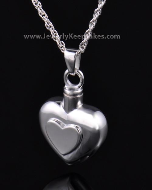 Ash Pendant Double Heart - Sterling Silver