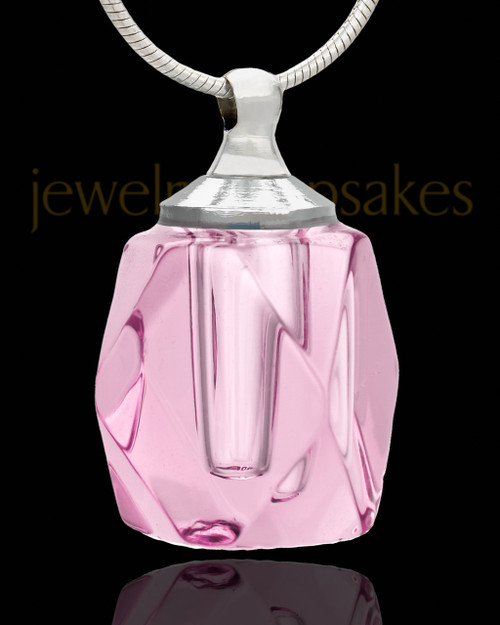 Pink Crystal Cube Cremation Charm