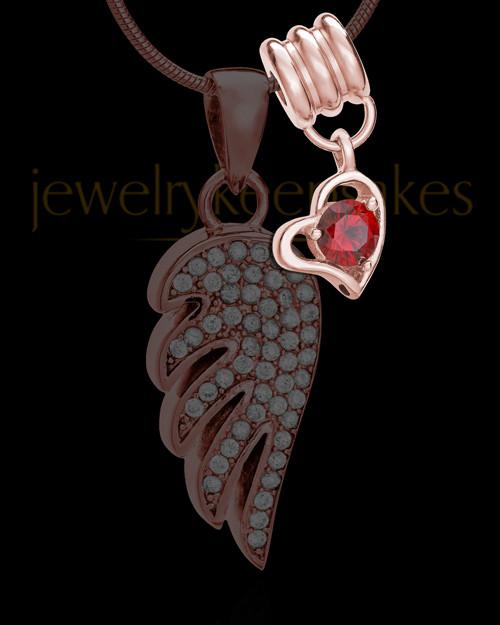 Add a Rose Gold January Birthstone Heart