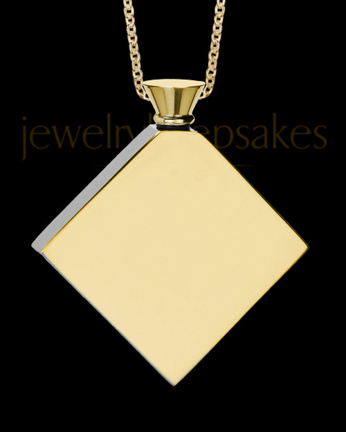 Gold Beloved Diamond Men's Urn Pendant