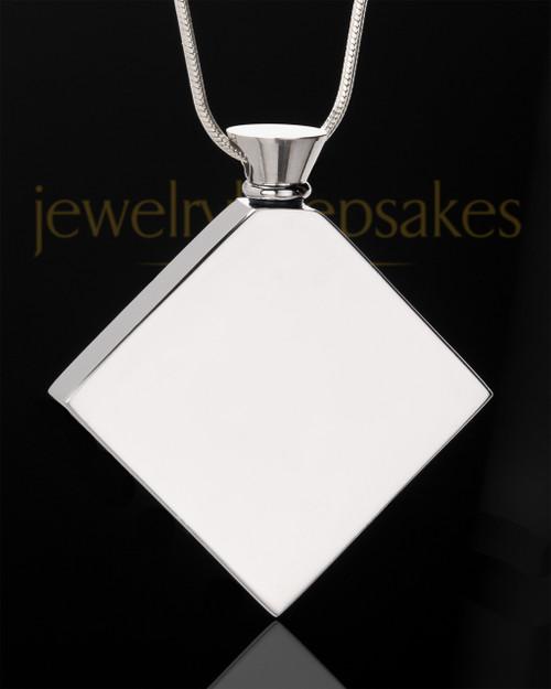 Stainless Steel Beloved Diamond Cremation Keepsake