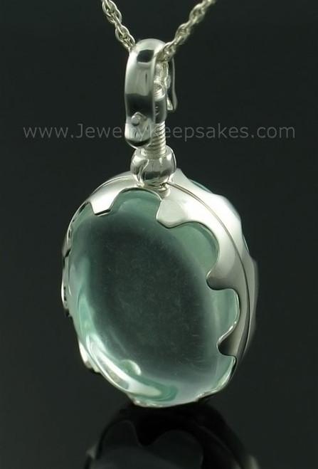 Ash Urn Oval Glass Cylinder