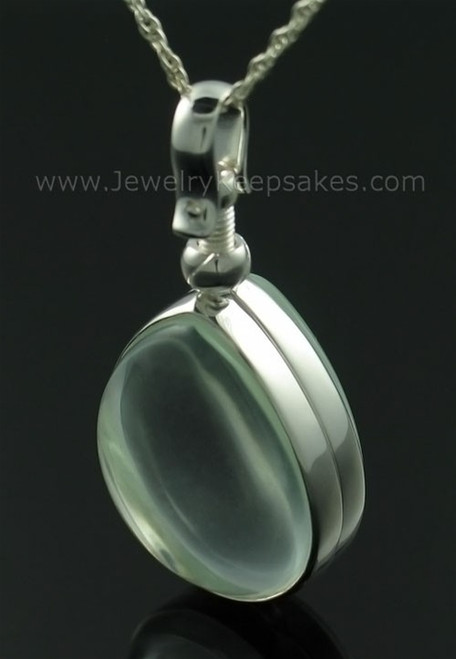 Cremains Pendant Glass Teardrop Memorial