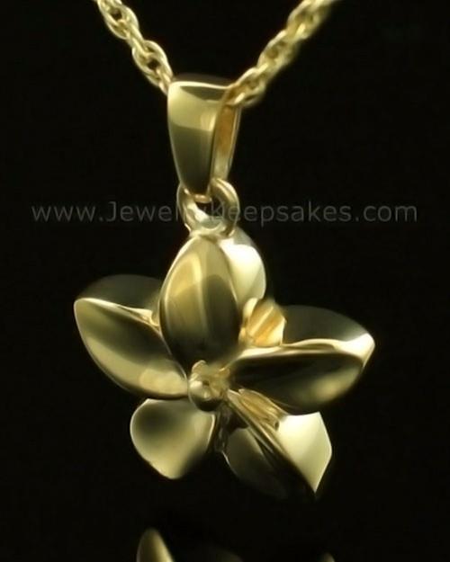 Keepsake Pendant Solid 14K Gold Flower