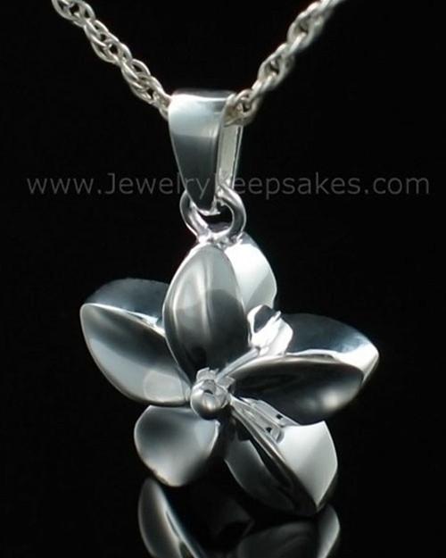 Keepsake Pendant Sterling Silver Flower