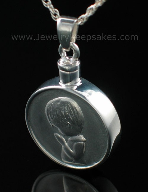 Cremains Pendant Sterling Silver Boy