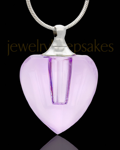 Necklace Urn Enthralling Heart Glass Locket