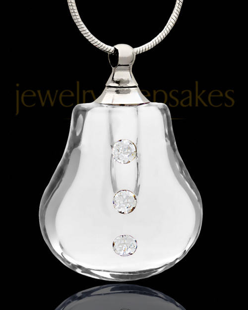 Remembrance Pendant Clear Sprinkle Glass Locket